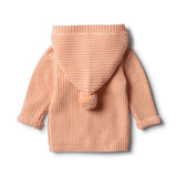 Tropical Peach Rib Knitted Jacket - Wilson and Frenchy