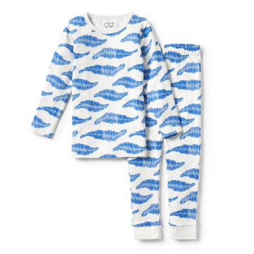 JUNGLE LEAF LONG SLEEVE PYJAMA SET-KIDS SLEEPWEAR-Wilson and Frenchy