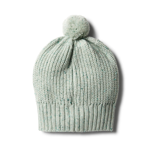 Fern Rib Knitted Hat With Pom Pom - Wilson and Frenchy