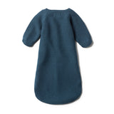 STEEL BLUE KNITTED COCOON SLEEPER - Wilson and Frenchy