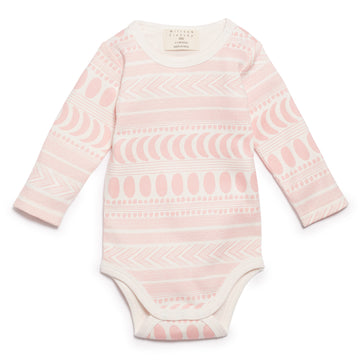 PINK MOON AZTEC  LONG SLEEVE BODYSUIT-BODYSUIT-Wilson and Frenchy