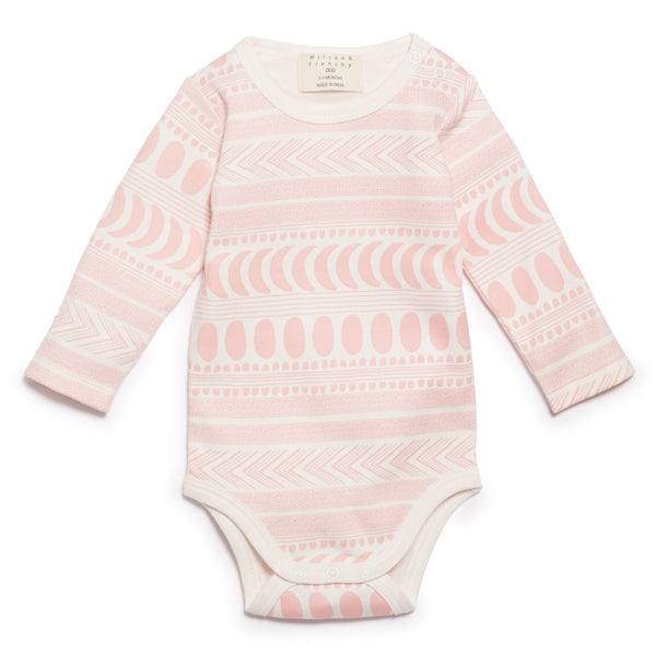 PINK MOON AZTEC  LONG SLEEVE BODYSUIT