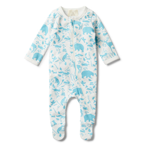 BOYS WILD WOODS  ZIP SUIT WITH FEET - Wilson and Frenchy