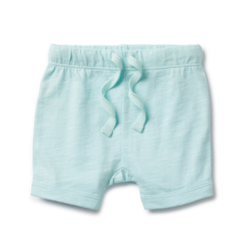SKY BLUE FLECK SHORTS-SHORTS-Wilson and Frenchy