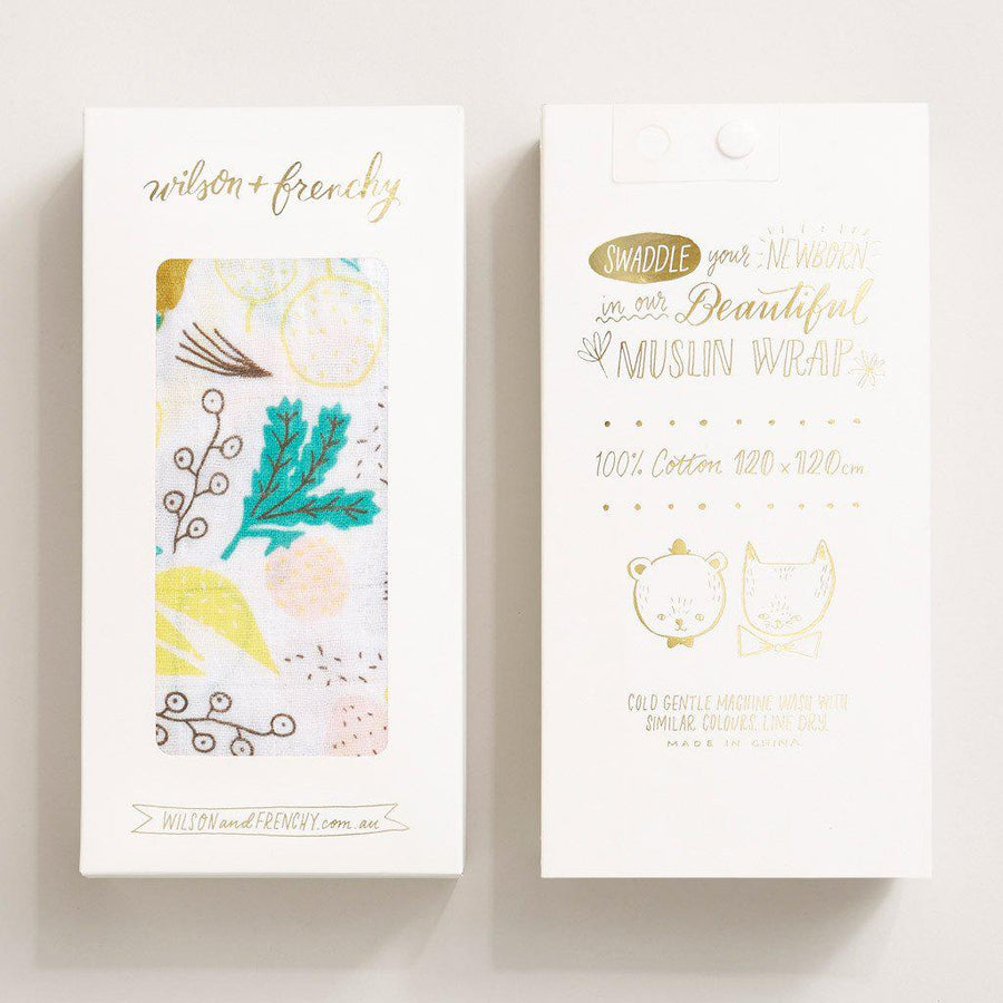 TUTTI FRUTTI MUSLIN WRAP-Wilson and Frenchy
