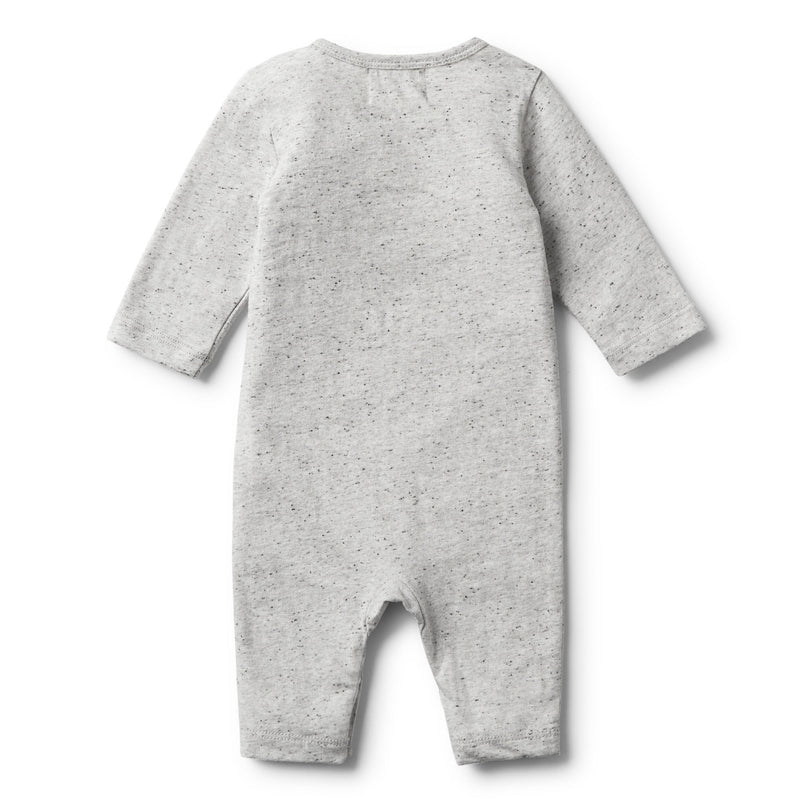 GREY FEATHER LONG SLEEVE GROWSUIT - Wilson and Frenchy