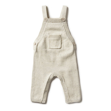 OLIVE SPECKLE KNITTED OVERALL