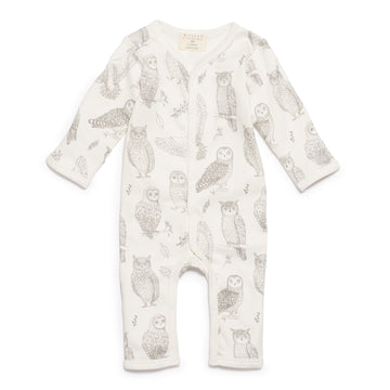 LITTLE HOOT LONG SLEEVE GROWSUIT-GROWSUIT-Wilson and Frenchy