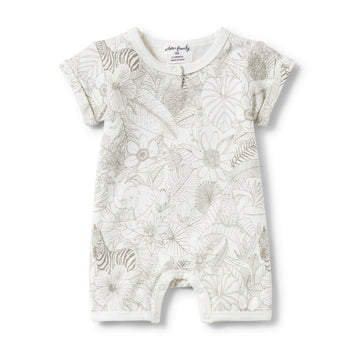 PEEKABOO PLACKET DETAIL BOYLEG GROWSUIT-Wilson and Frenchy