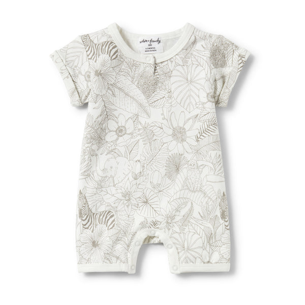 PEEKABOO PLACKET DETAIL BOYLEG GROWSUIT - Wilson and Frenchy