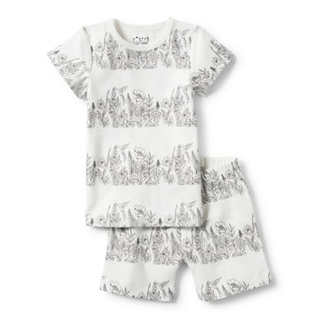 WONDERFUL SHORT SLEEVE PYJAMA SET-Wilson and Frenchy
