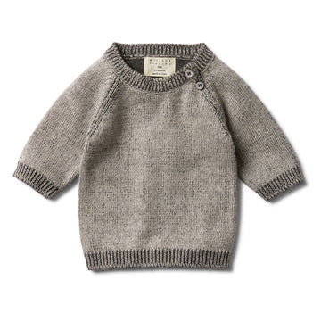 DARK MOON TWO TONE JUMPER-KNITTED JUMPER-Wilson and Frenchy