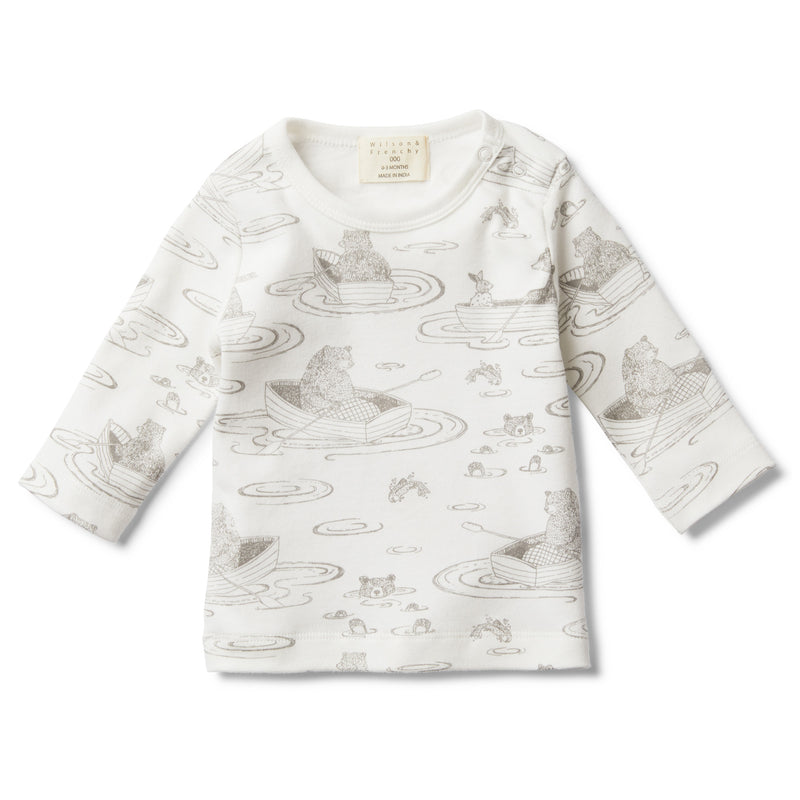 LITTLE ROW BOAT LONG SLEEVE TOP - Wilson and Frenchy