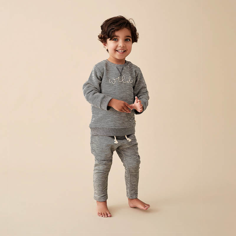 Grey Speckle Sweat Pant