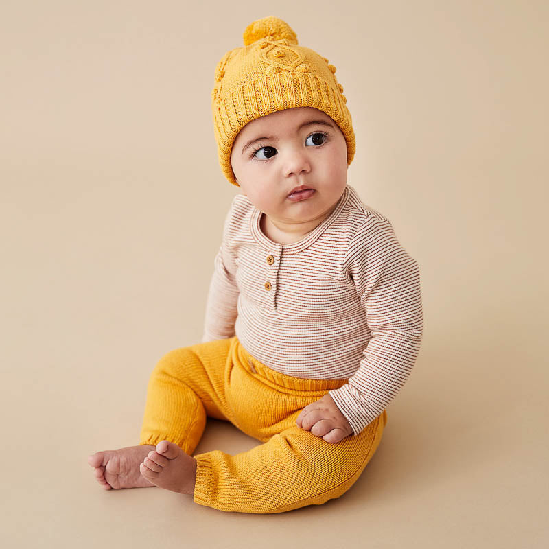 Golden Apricot Knitted Legging