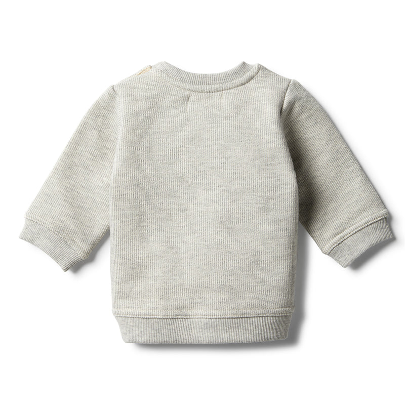 Oatmeal Speckle Sweat Top - Wilson and Frenchy