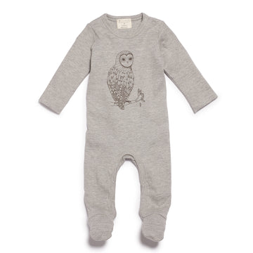 LITTLE OWL GROWSUIT WITH FEET - Wilson and Frenchy