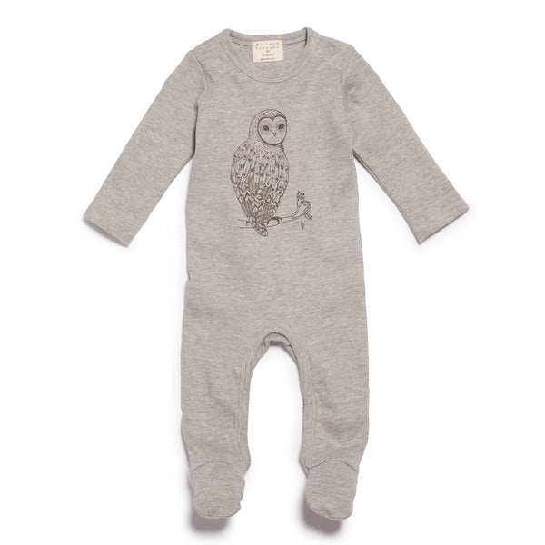 LITTLE OWL GROWSUIT WITH FEET