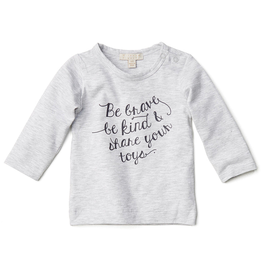 BE BRAVE LONG SLEEVE TOP - Wilson and Frenchy