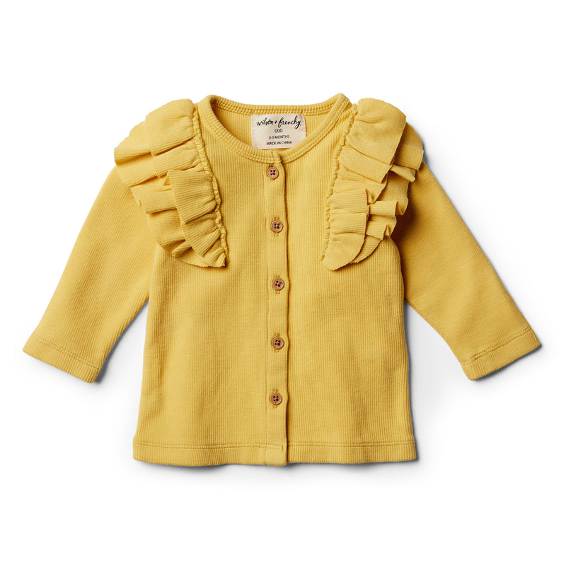 Jojoba Cardigan with Ruffle - Wilson and Frenchy