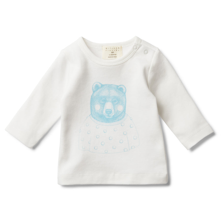 MR BEAR LONG SLEEVE TOP - Wilson and Frenchy