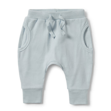 POWDER BLUE POCKET SLOUCH PANT-Wilson and Frenchy