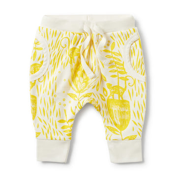 MELLOW YELLOW POCKET SLOUCH PANT-SLOUCH PANT-Wilson and Frenchy