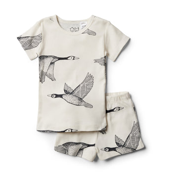 Organic Lets Fly Away Short Sleeve Pyjama Set - Wilson and Frenchy