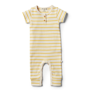 Organic Jojoba Stripe Growsuit