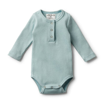 ORGANIC ATLANTIC RIB LONG SLEEVE BODYSUIT