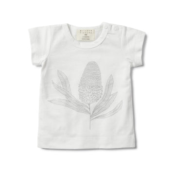 SHORT SLEEVE TEE WITH BANKSIA PRINT - Wilson and Frenchy