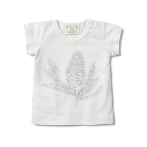 SHORT SLEEVE TEE WITH BANKSIA PRINT
