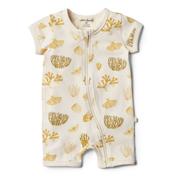 Organic Little Shell Boyleg Zipsuit - Wilson and Frenchy