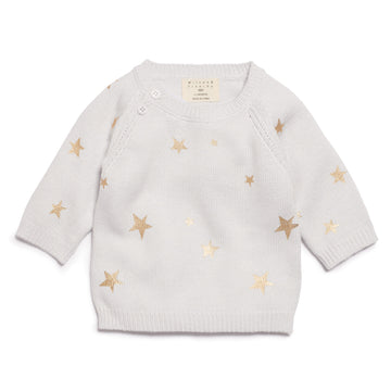 GLACIER STAR BRIGHT KNITTED JUMPER - Wilson and Frenchy