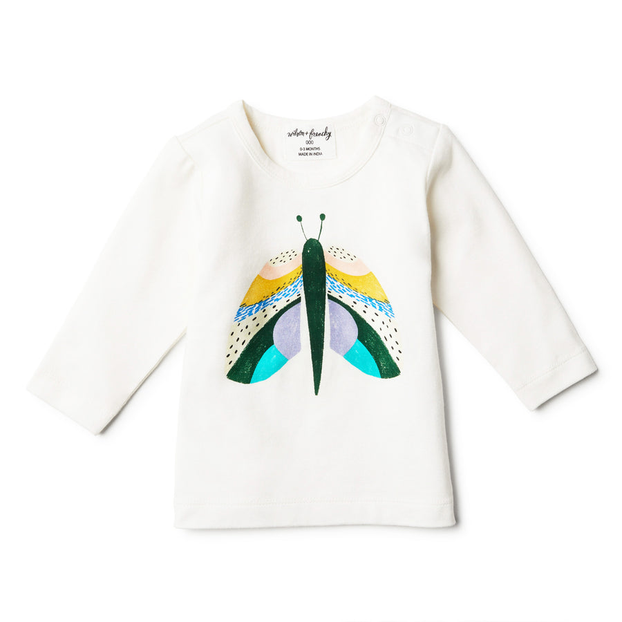 ORGANIC FLUTTER BY LONG SLEEVE TOP