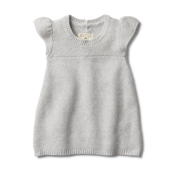 GREY MELANGE KNITTED DRESS - Wilson and Frenchy