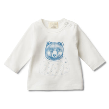 HELLO MR BEAR LONG SLEEVE TOP-LONG SLEEVE TOP-Wilson and Frenchy
