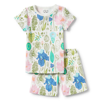 FLORA SHORT SLEEVE PYJAMA SET-KIDS SLEEPWEAR-Wilson and Frenchy