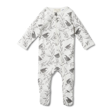 LITTLE FLOW LONG SLEEVE ZIPSUIT - Wilson and Frenchy