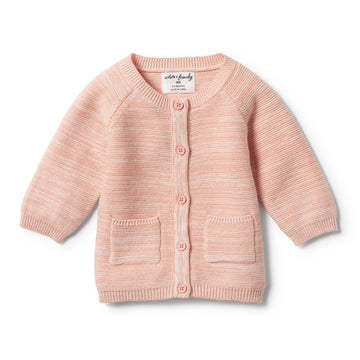STRAWBERRY & CREAM KNITTED CARDIGAN