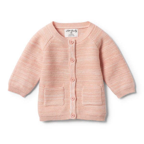 STRAWBERRY & CREAM KNITTED CARDIGAN - Wilson and Frenchy