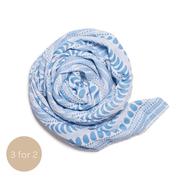 "MOON AZTEC MUSLIN WRAP APPLY ""MUSLIN"" AT CHECKOUT"