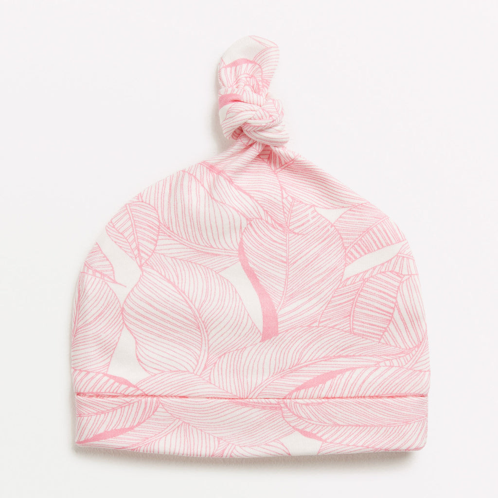 Pink into the jungle knot hat