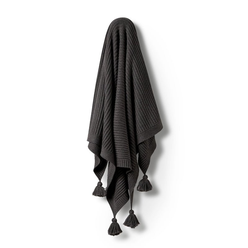 Storm Grey Rib Blanket - Wilson and Frenchy