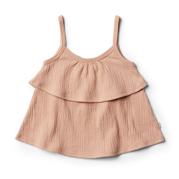 Blush Ruffle Tank - Wilson and Frenchy