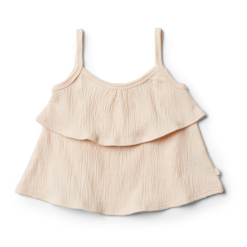 Peach Dust Ruffle Tank - Wilson and Frenchy