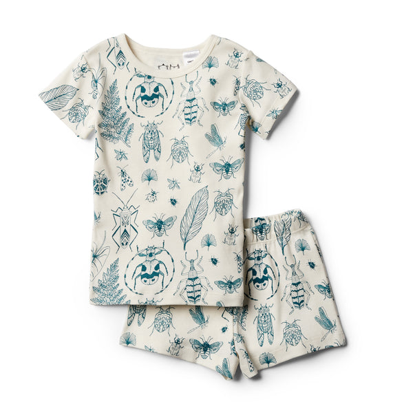 Organic Creepy Crawly Short Sleeve Pyjama Set - Wilson and Frenchy