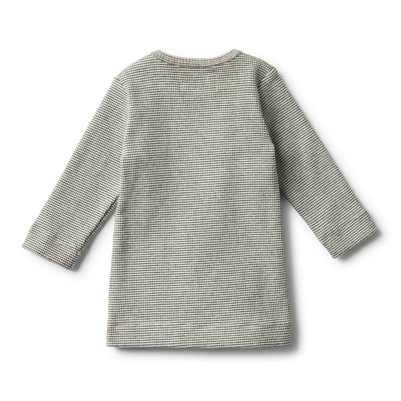 ORGANIC ASH RIB LONG SLEEVE TOP - Wilson and Frenchy