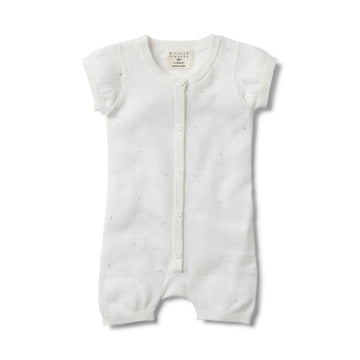 SILVER MOON DROP KNITTED GROWSUIT - Wilson and Frenchy