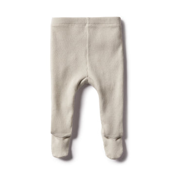 DUSTY EGGSHELL RIB LEGGING WITH FEET - Wilson and Frenchy